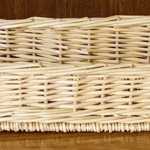 Vintage Bamboo Rattan Wicker Boho Storage Organizer Centerpiece Plant Flower Planter Vase Home Decoration Accent for Sale in Chapel Hill, NC