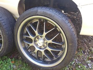 "4x100 & 4x114 18"" rims and tires for Sale in Tacoma, WA"