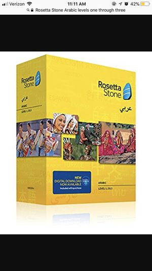 Ro $200 Rosetta Stone Arabic software course levels one through three for Sale in Herriman, UT