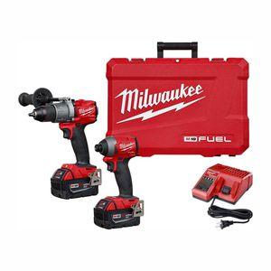 Milwaukee M18 FUEL 18V Brushless Hammer Drill Impact Driver Kit for Sale in Las Vegas, NV