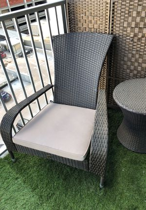 Outdoor Wicker Chair x2 and Wicker Table for Sale in Denver, CO