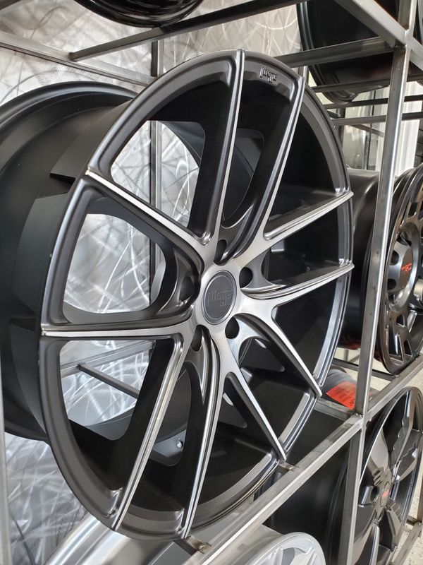 """PRICE PER WHEEL 19"""" staggered Niche Targa M130 black with tinted face fits 5x114 rims"""
