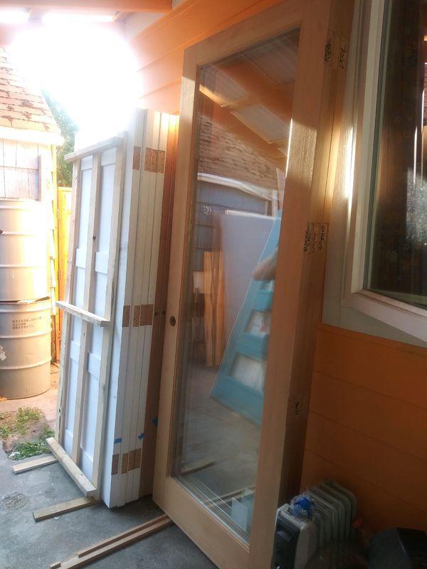 "Three Custom 36x96"" Single Panel Entryway Doors"