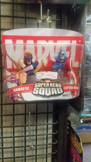NEW Marvel Super Hero Squad Avengers 2 Pack - Hawkeye & Captain America figures. for Sale in Leander, TX