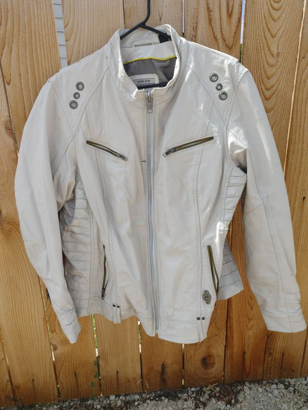 Woman's leather Harley Davidson riding jacket