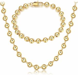 New 18 k yellow gold necklace and bracelet for Sale in Sunrise, FL