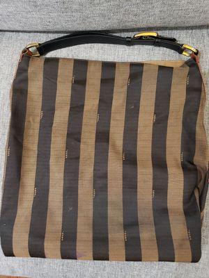 Fendi Pequin Hobo Striped Designer Shoulder Bag Purse for Sale in Houston, TX