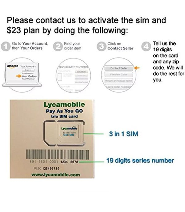 Lycamobile Preloaded $29X2 Months Unlimited Nationwide Talk,Text & Data  3in1 SIM for Sale in New York, NY - OfferUp