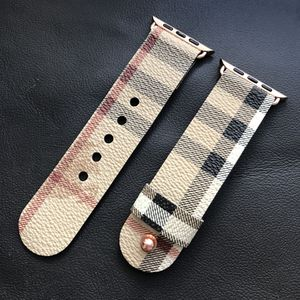 Burberry Canvas Apple Watch Strap Band Handmade from Bag Mother's Day Gift for Sale in West Hollywood, CA
