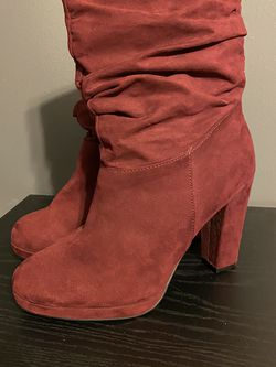 Burgundy Heel Boots for Sale in Williamston,  SC