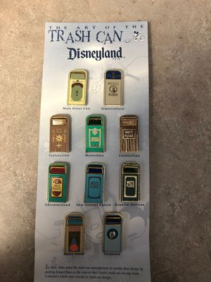 Disney trash can pins for Sale in Long Beach, CA