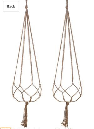 Two macrame plant holders for Sale in Arlington, VA