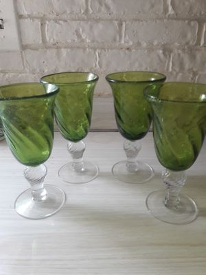 4 glass cups for Sale in Bridgeport, CT