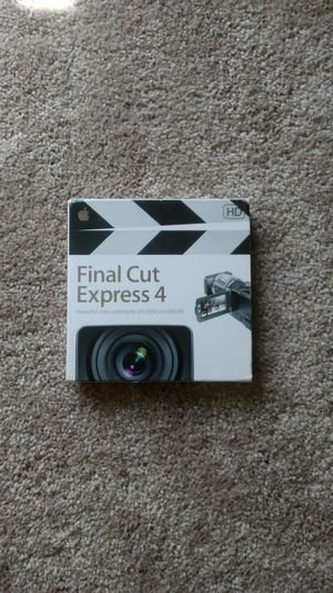 Final Cut Pro Express 4 Video Editing Software for Apple Computers (Macbook, Powerbook, Imac) for Sale in Glenwood, IL