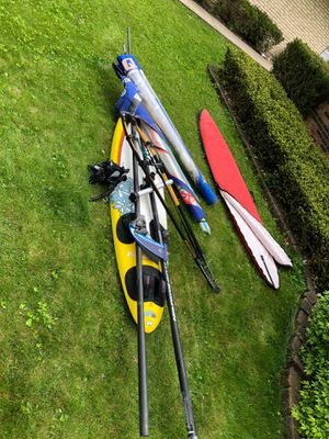 Surfboard F2 Ride 279, with 2 sails, 2 masts, boom, mast food, extension for Sale in Arlington Heights, IL