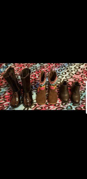 3 pairs of boots for baby girl size 4-5 for Sale in Philadelphia, PA