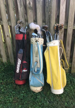 Assorted golf clubs and bags for Sale in Laurel, MD
