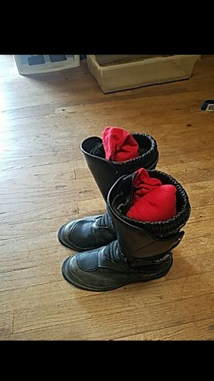 BMW motorcycle boots size 39 Vera gomma for Sale in Los Angeles, CA