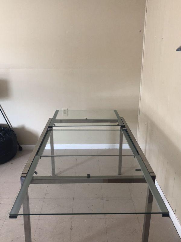 Glass & Chrome Dinning Room Table