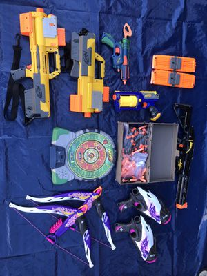 Huge nerf gun lot with ammo for Sale in Alexandria, VA