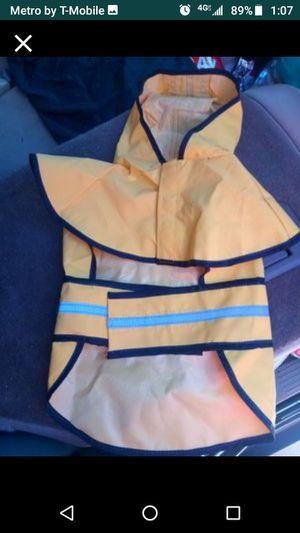 Medium dog rain jacket for Sale in San Antonio, FL