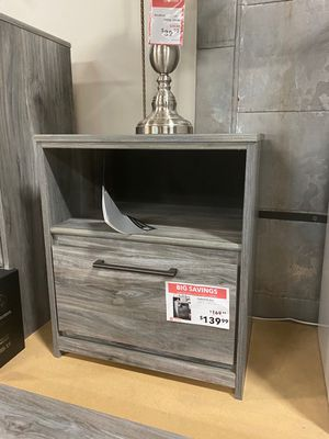 Nightstand with USB Port, Grey for Sale in Santa Fe Springs, CA