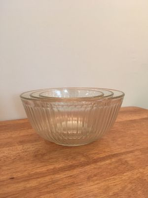 Vintage Pyrex fluted bowls for Sale in Durham, NC