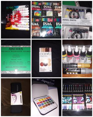 Art supplies paint markers watercolor acrylic color pencils for Sale in Philadelphia, PA