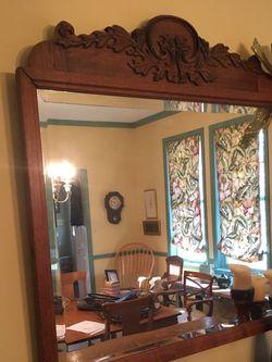 Antique Oak Carved Mirror for Sale in Kingsville,  MD