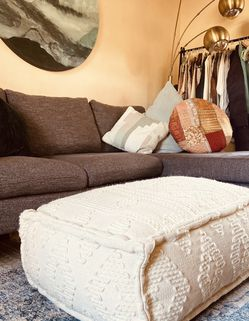 Boho Ottoman Modern Coffee Table Anthropologie Style Pouf for Sale in San Diego,  CA