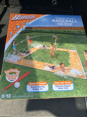 BETTER THAN A POOL - NEW BANZAI GRAND SLAM BASEBALL WATER SLIDE BAT & BALL INCL FACTORY SEALED. Condition is New in box. for Sale in Cherry Hill, NJ