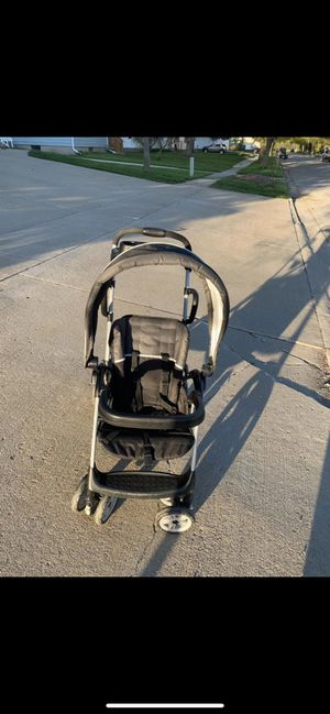 Graco SnugRide 35 Infant Car Seat, Pierce & Graco Roomfor2 Click Connect Stand and Ride Stroller, Gotham for Sale in Midland, MI