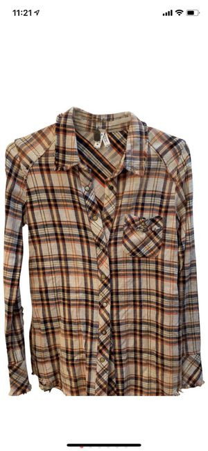 free people fringe flannel shirt for Sale in New York, NY
