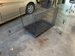 Metal collapsible dog crate with two doors for Sale in Olympia, WA
