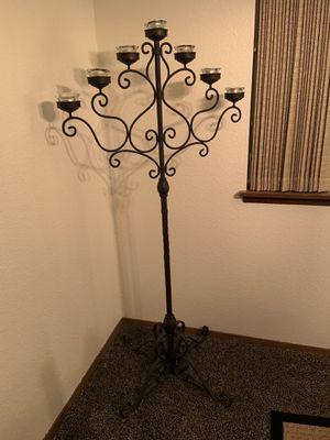 Wrought iron floor candelabra for Sale in Bremerton, WA