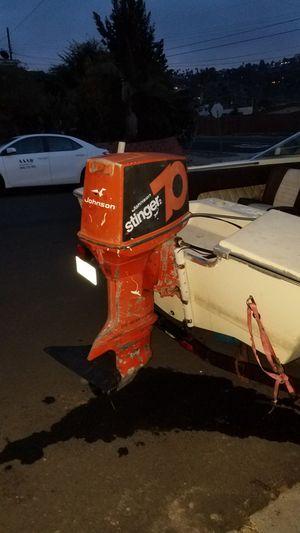 1974 Johnson 70 Stinger2 boat motor for Sale in Oceanside, CA