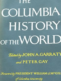 The Columbia History Of The World classic historical reference book, from the formation of the universe to present day, 1237 pages, many maps, excelle for Sale in Lansdale,  PA