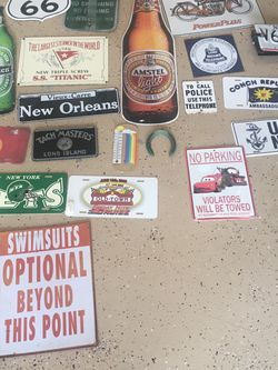 20 Metal Signs As Shown for Sale in Orlando,  FL