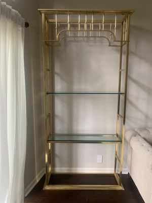 Gold Shelf/Cabinet for Sale in East Cobb, GA