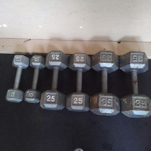 Weights / dumbbells 2*10, 2*25, 2*35. Total 140lb. $80 firm. for Sale in Vancouver, WA
