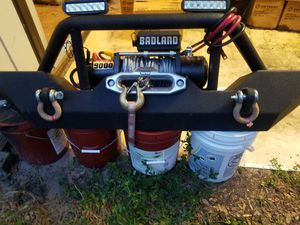 Jeep wrangler 2012. Bumper front. with. lights. winche. for Sale in Heathrow, FL