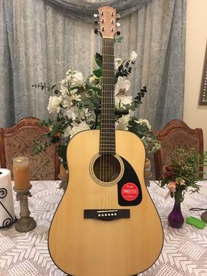 Fender CD60S acoustic guitar with strap pick and strings for Sale in Bell, CA