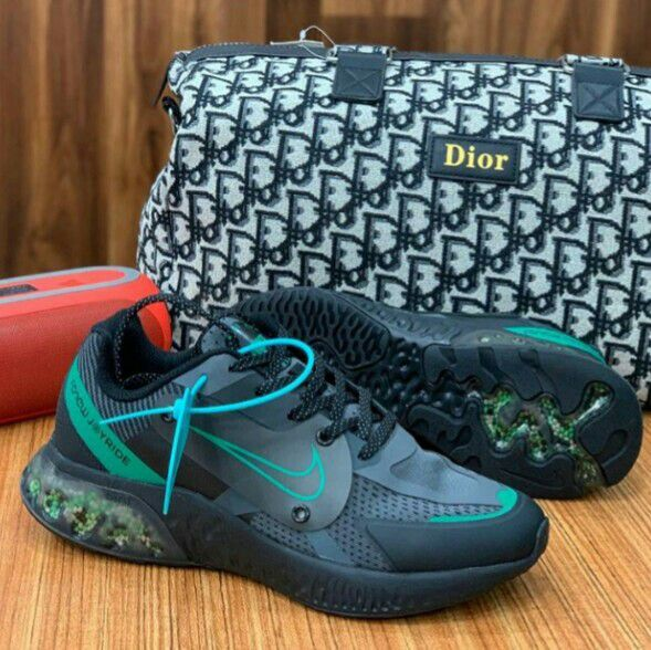 Nike boot size 8 and a christian Dior travelling bag
