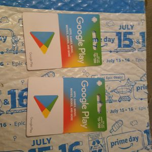 Brand new unused Google Play card I have two cards each one has 200 on it I'm trying to get 150 for each one even willing to come down just a bit for Sale in Ceres, CA