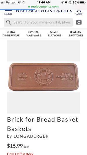 Longaberger Bread Basket Brick for Sale in Medina, OH
