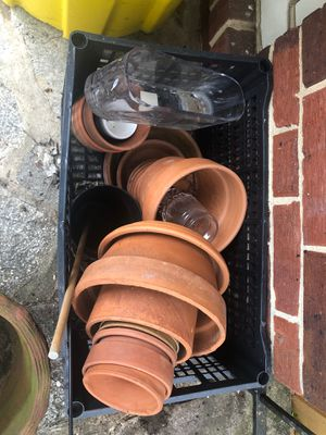 FREE clay pots++ for Sale in Baltimore, MD