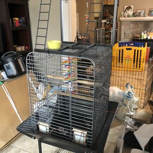 Small parrot cage with playground for Sale in Alameda, CA