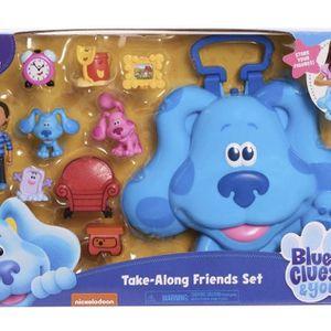 TAKE-ALONG FRIENDS SET Blue's Clues & You Figures Carry Case Shovel Pail Josh for Sale in Phoenix, AZ