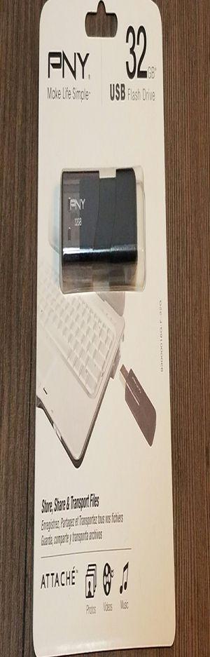 PNY Attache USB 2.0 Flash Drive, 32GB/ BLACK (P-FD32GATT03-GE) for Sale in Denver, CO