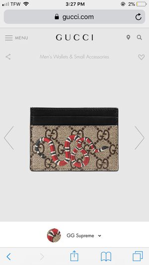 Gucci Supreme Wallet Snake Monogram Cardholder for Sale in Nutley, NJ